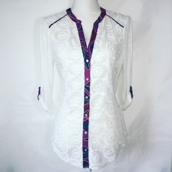 Anthropologie Tops - Anthropologie Tiny Boho Button Down Top